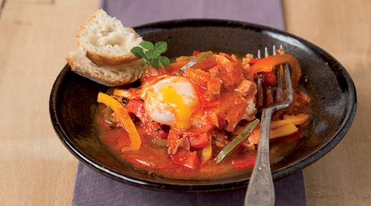 Piperade with soft-boiled eggs Cook Expert